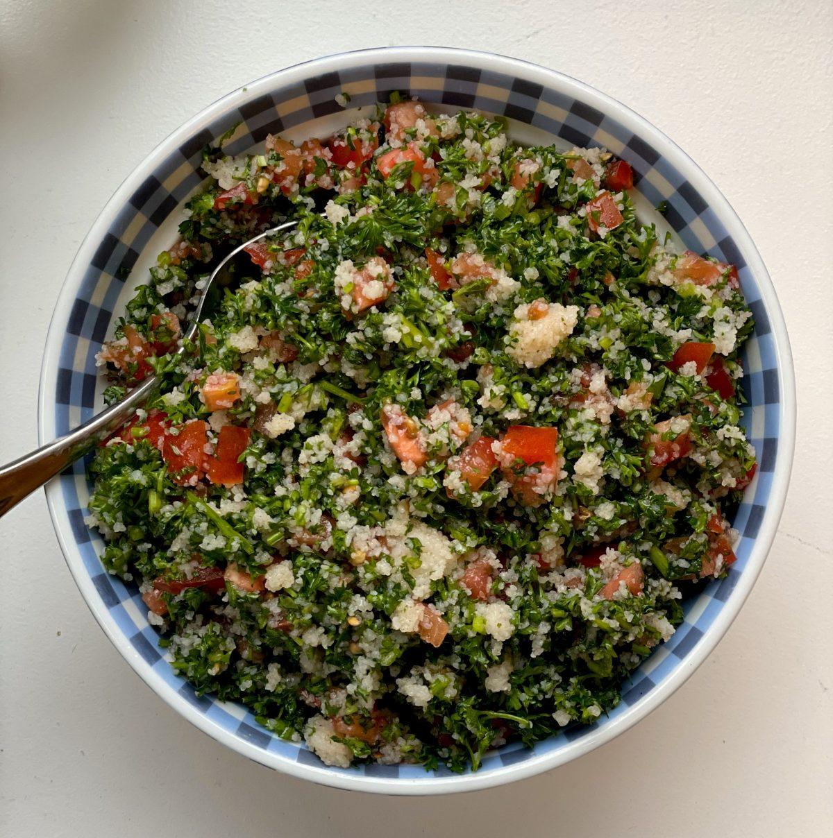 nutritious gluten free tabouleh