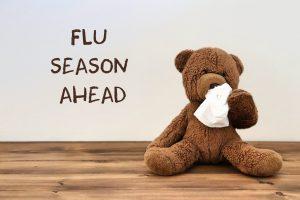 teddy bear with a tissue
